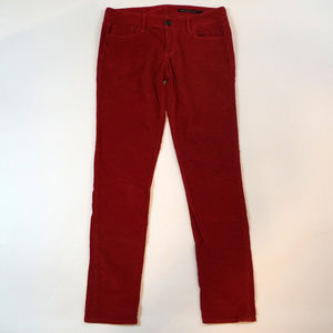 Black Orchid Skinny Leg Size 29 Red Corduroys